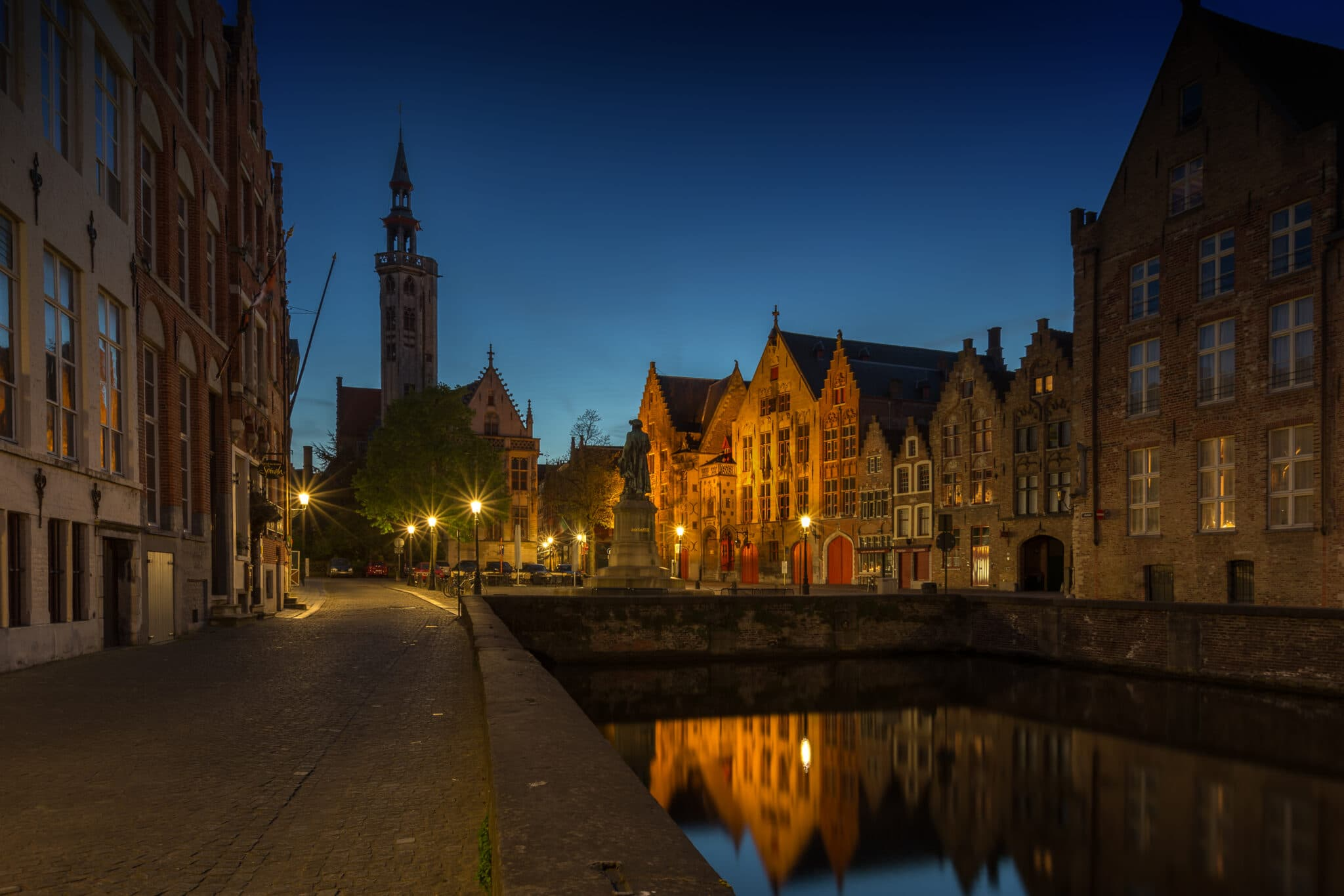Cityscape - Bruges by Night - Jan van Eyckplein - Fotografie Krist