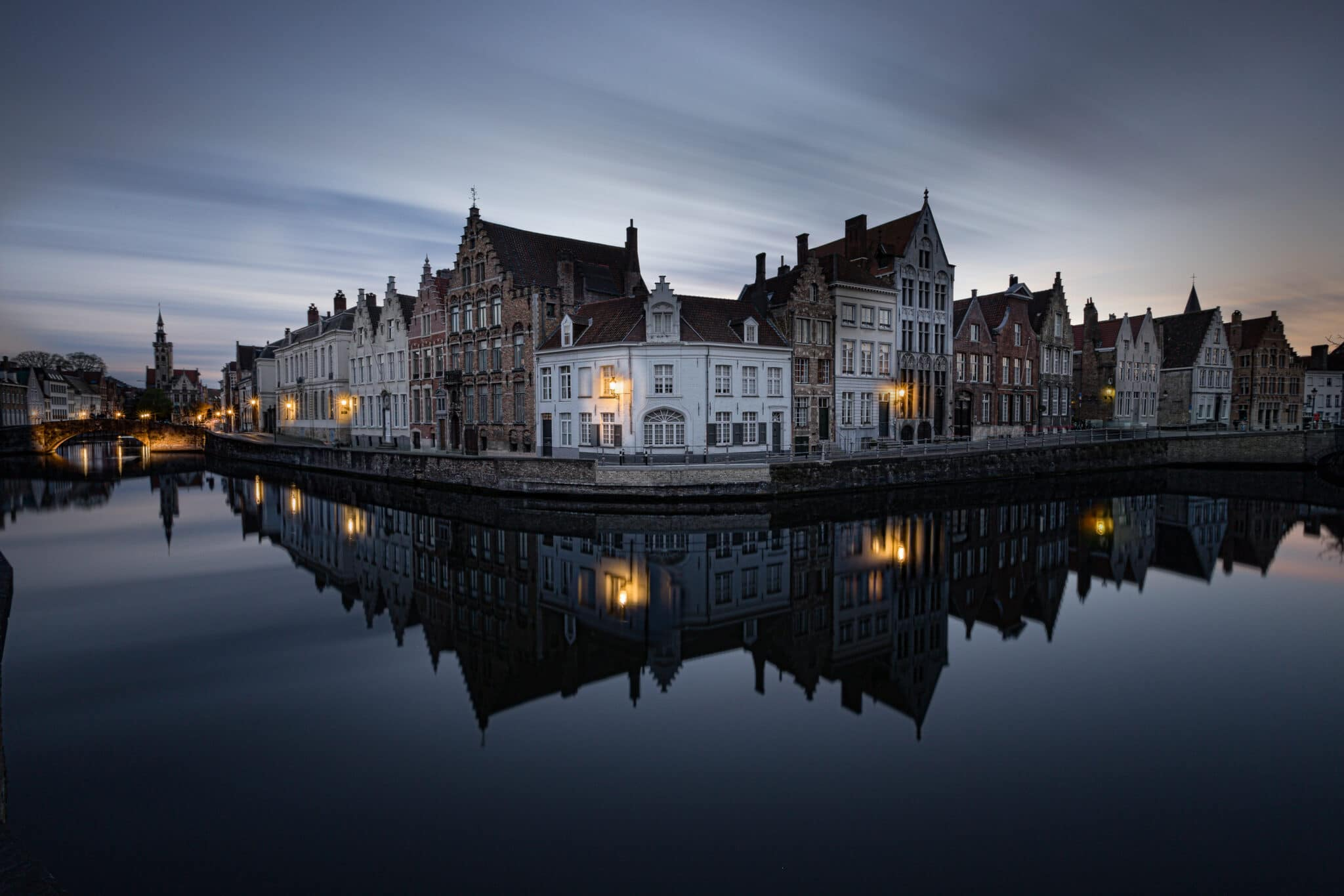 Cityscape - Bruges by Night - Spiegelrei - Fotografie Krist
