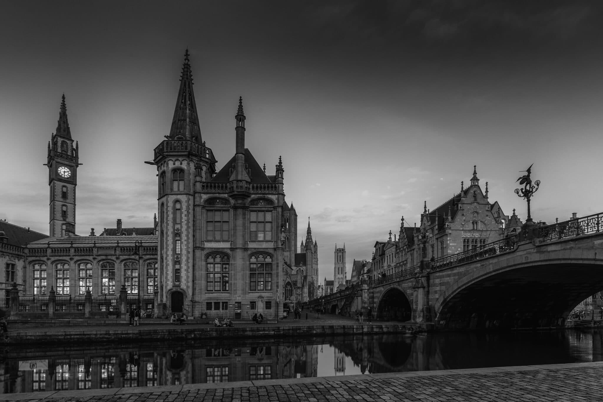 Cityscape - Gent by Night - GrasLei - Fotografie Krist