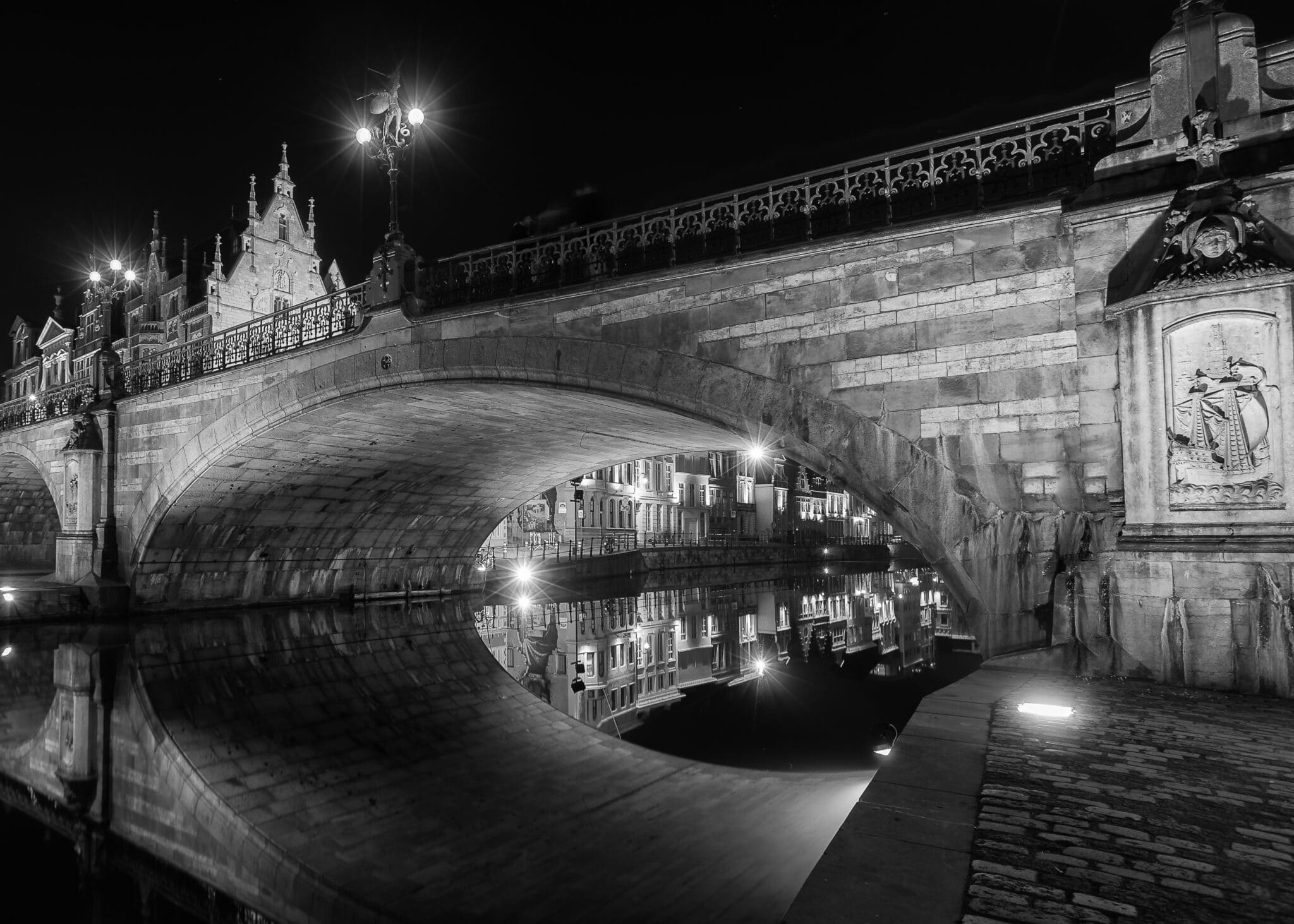 Cityscape - Gent by Night - Saint-Michielsbridge - Fotografie Krist