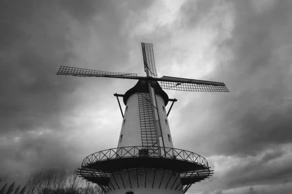 Fotografie Krist Hooghe Zwart Wit Menen Molen de goede hoop