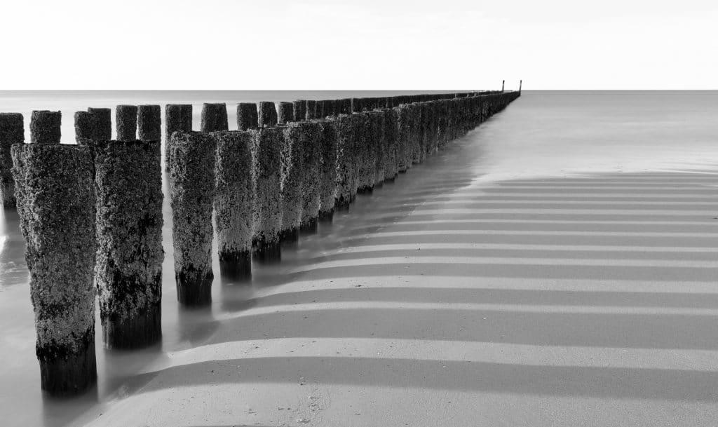 Fotografie Krist Hooghe Zwart Wit Paaltjes Zeeland