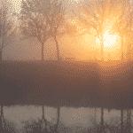 de warmste kalender 2020 - Zonsopkomst langs de sluizen in Menen