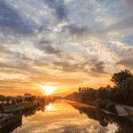 de warmste kalender 2020 - Zonsopkomst lang de leie in Wevelgem Lauwe