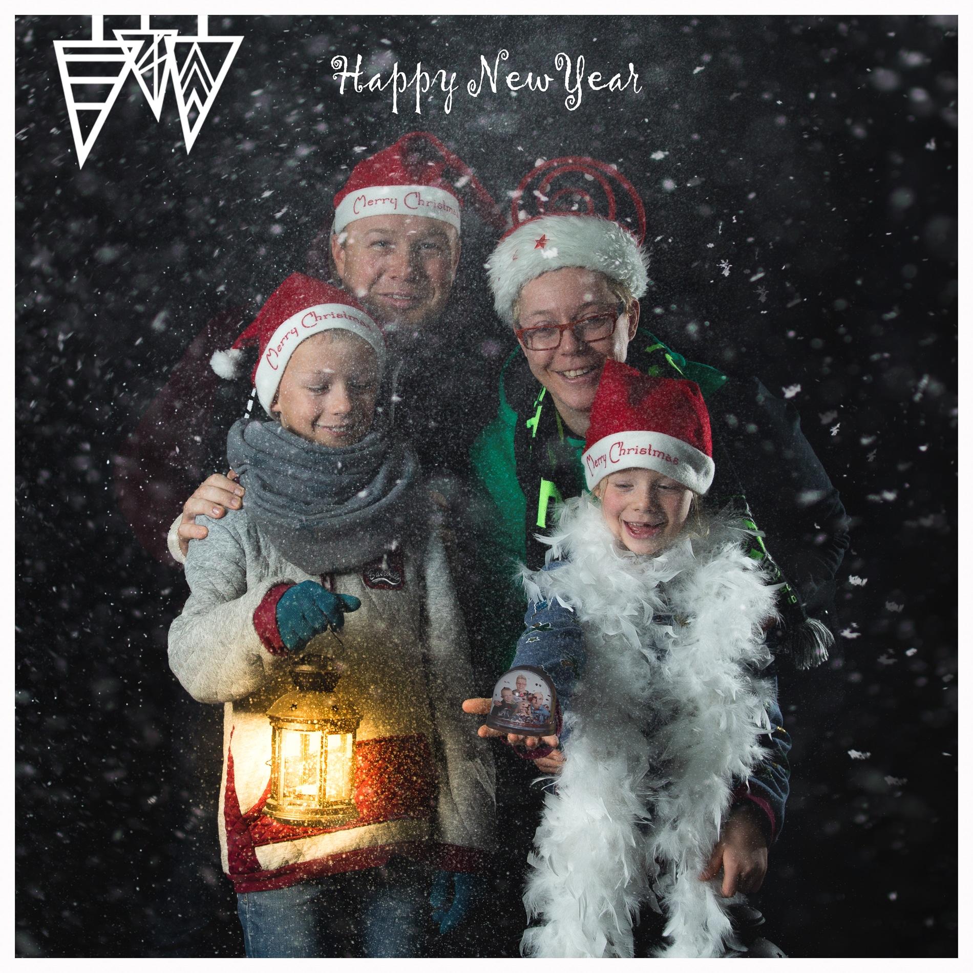 Kerst Kaartje 2018 Happy New Year