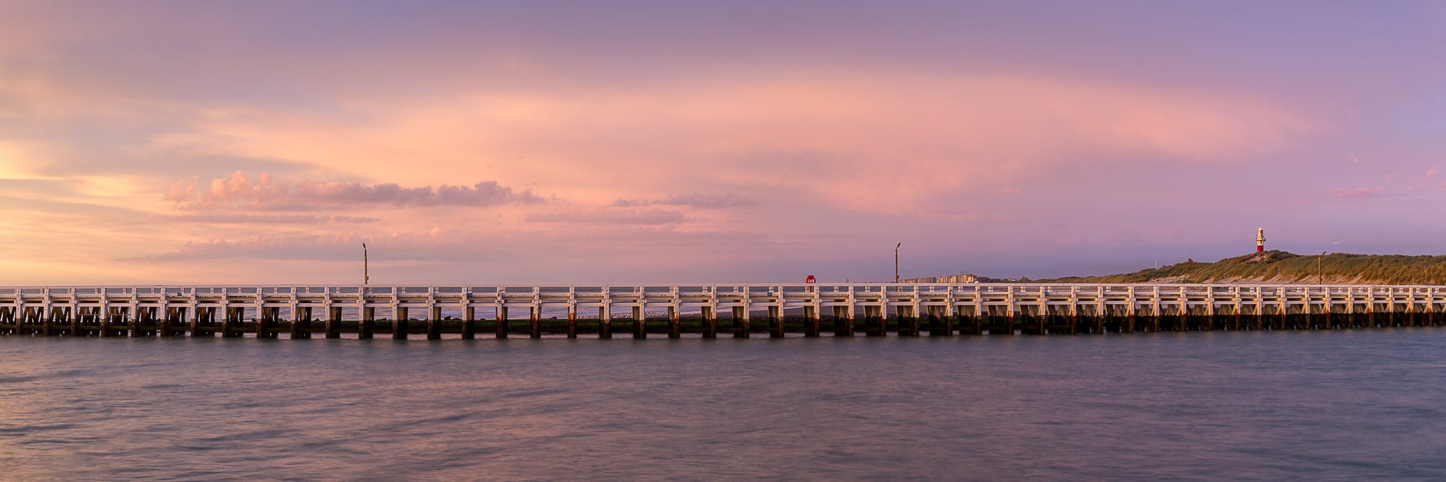 Zonsondergang aan de Pier in Nieuwpoort - Fotografie