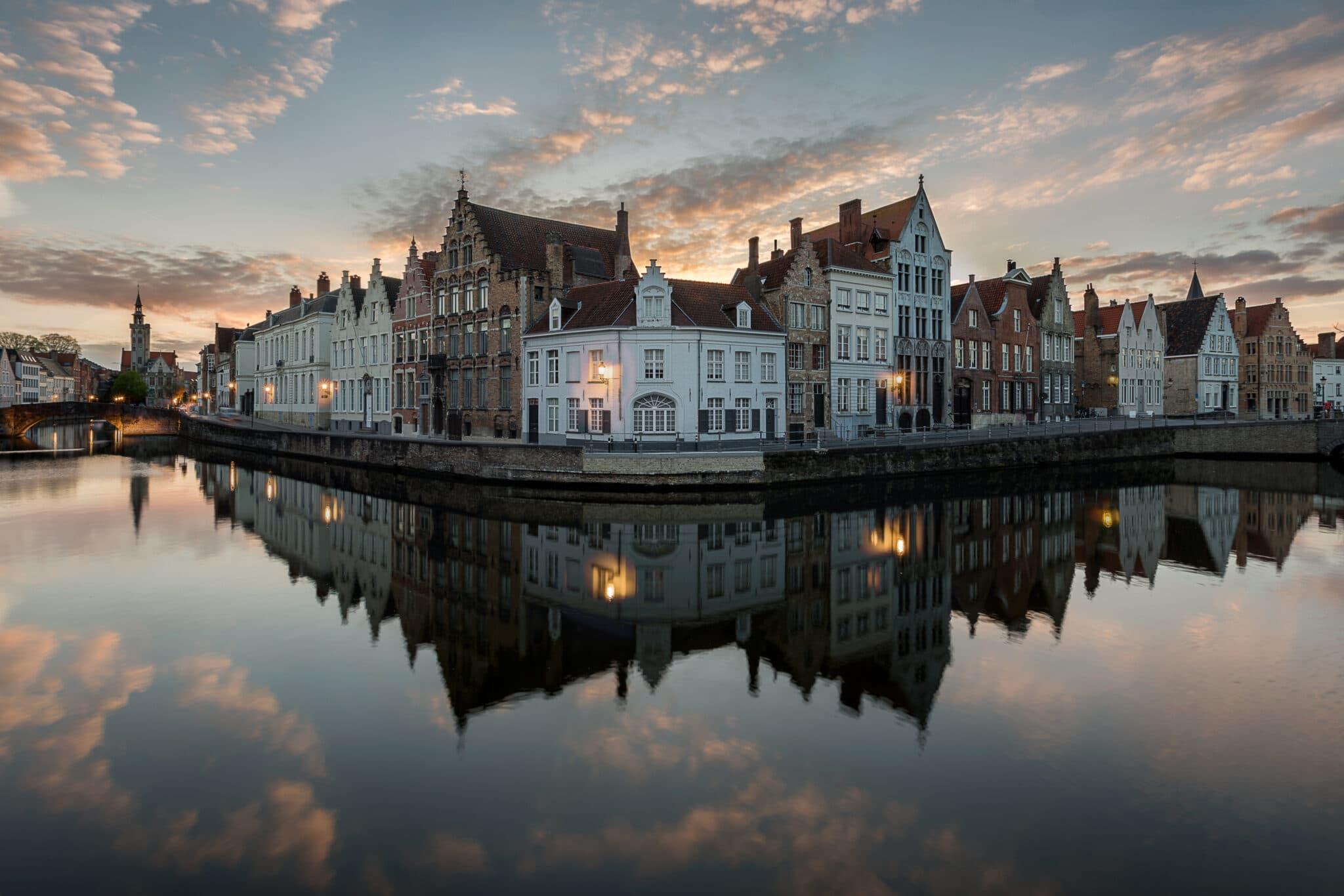 Cityscape - Bruges by Night - Spiegelrei - Fotografie Krist
