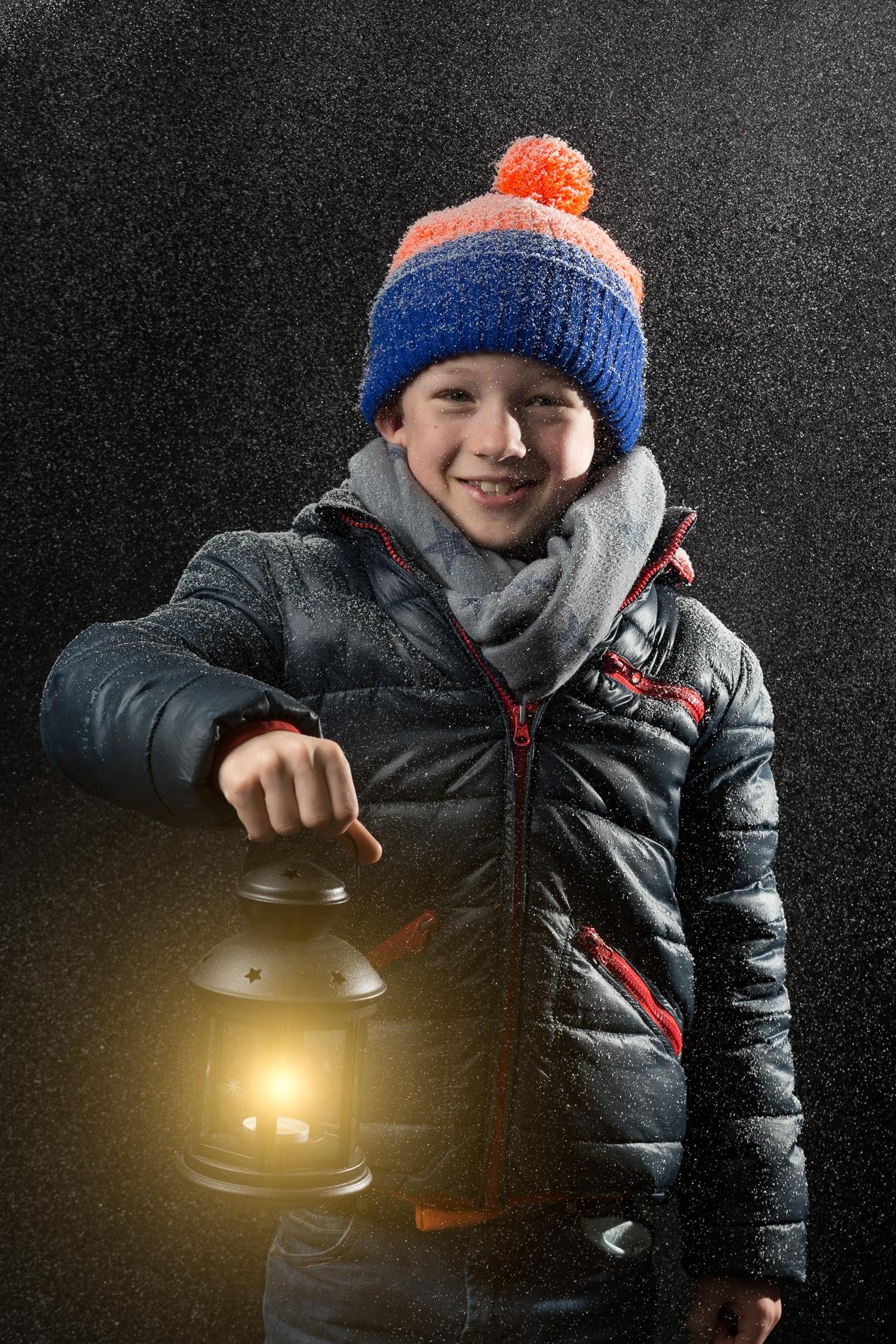 Mathias enjoys the first snow