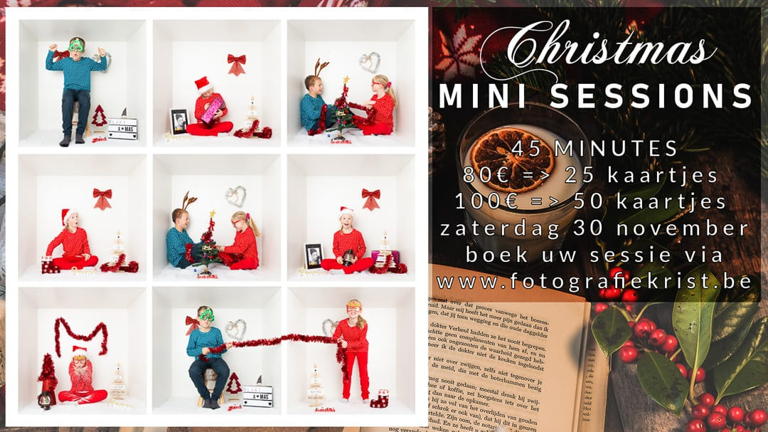 Christmas Mini Sessions Fotoshoot Kerstkaartjes Menen 30 november