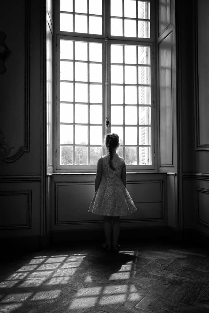 Communiefoto's Meisje Kasteel van Poeke Aalter