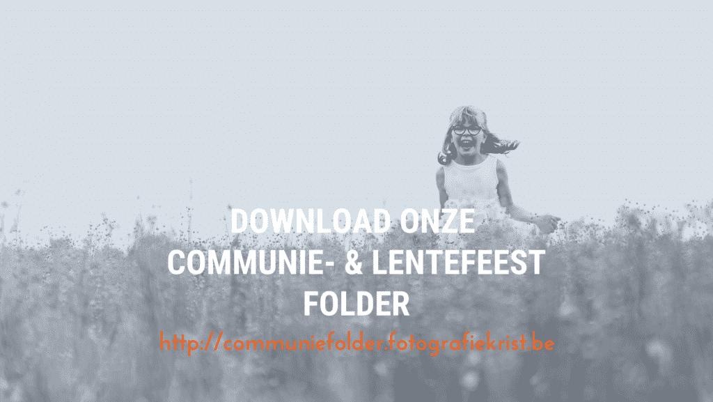 Communie en Lentefeest Fotografie Krist Menen Folder