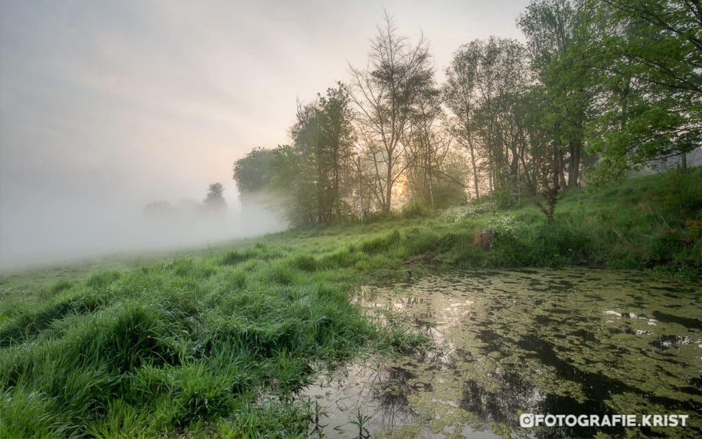zonsopkomst op de Leiemeersen te Lauwe
