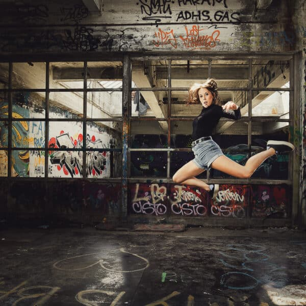 Urbex Dancers - Lyssa Casier - Fotoshoot V-tex Kortrijk