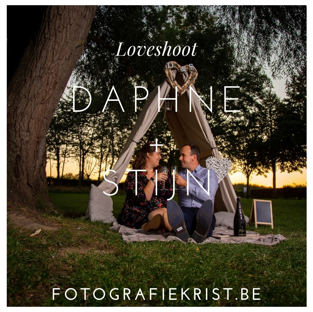Blog Styled Loveshoot met Daphne en Stijn op domein Bergelen te Gullegem