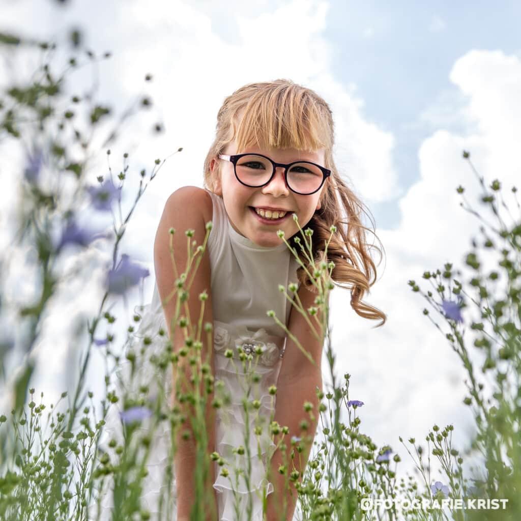 Eerste Communie Fotosessie Arthe in het Vlas-FotografieKristMenen (6)