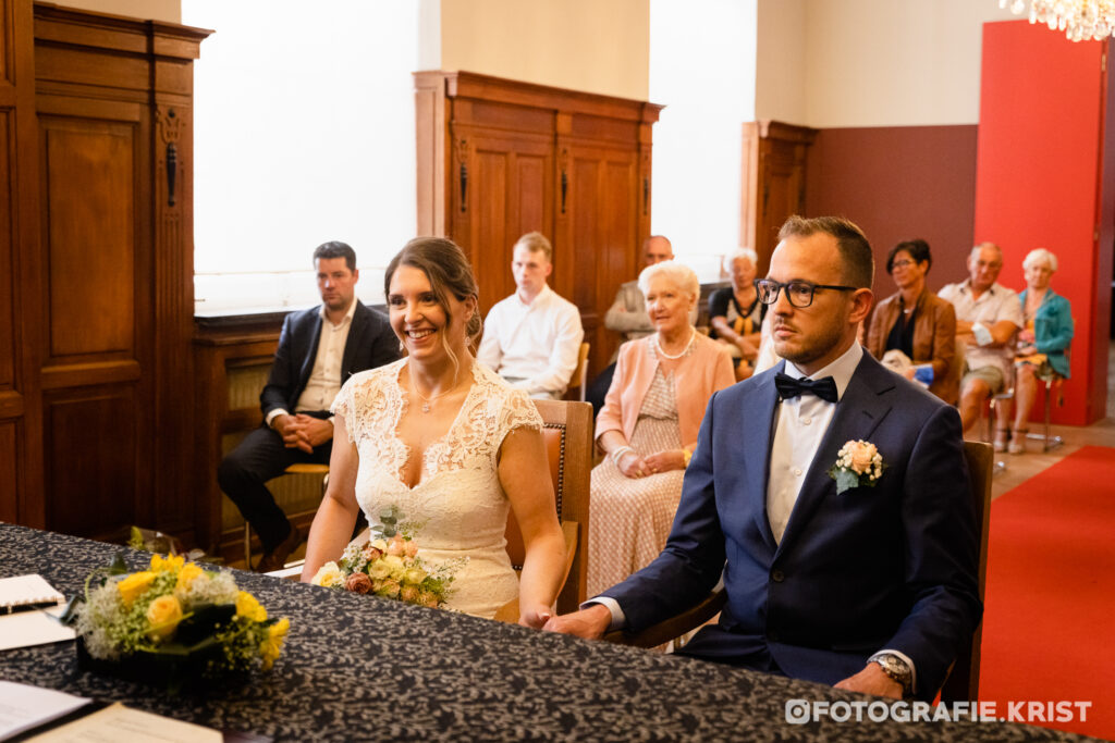 Huwelijk Gaelle & Guy - Stadhuis Menen - Fotografie Krist