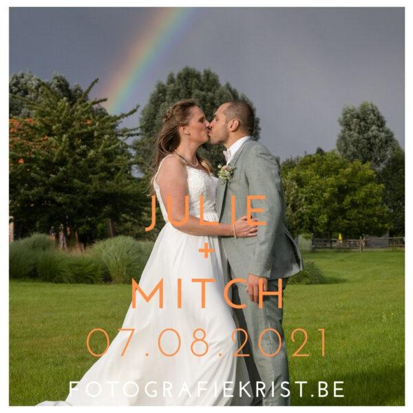Huwelijk Julie & Mitch Spegelhof te Wervik
